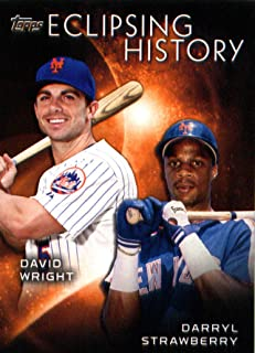 2015 Topps Eclipsing History Baseball Card #EH-10 Darryl Strawberry/David Wright