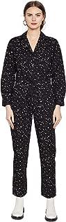 Rachel Antonoff Women's Stephen Boiler Suit, Black & White Stars, 2XL