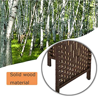 Room Divider Room Screen Divider Wooden Screen Folding Portable partition Screen Wood with Removable Storage Shelves Colour B