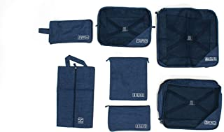 ISEEKER 7 Set Travel Packing Cubes Luggage Organizers with Laundry Bag Shoe Bag Toiletry Bags digital bag, Compression Pac...