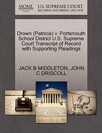Drown (Patricia) V. Portsmouth School District U.S. Supreme Court Transcript of Record with Supporting Pleadings