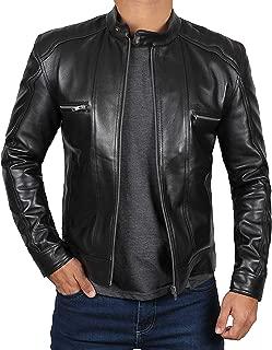 Best slim fit leather biker jacket Reviews
