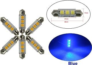 Njytouch 6pcs 36/mm 6SMD 5050/211/rosso siluro mappa interni lampadine LED DC8/ /25/V bipolare