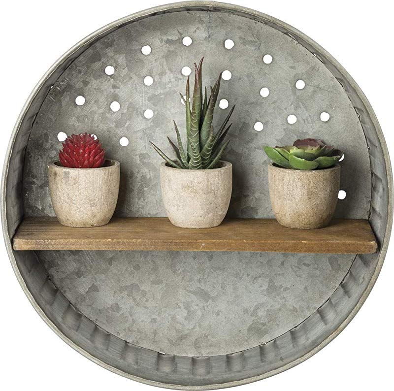 Primitives By Kathy Rustic Inspired Wall Shelf Metal And Wood