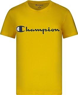 Champion Boys Short Sleeve Logo Tee Shirt (Small, Team Gold)