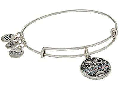 Alex and Ani Places We Love Chicago Bangle (Rafaelian Silver) Bracelet
