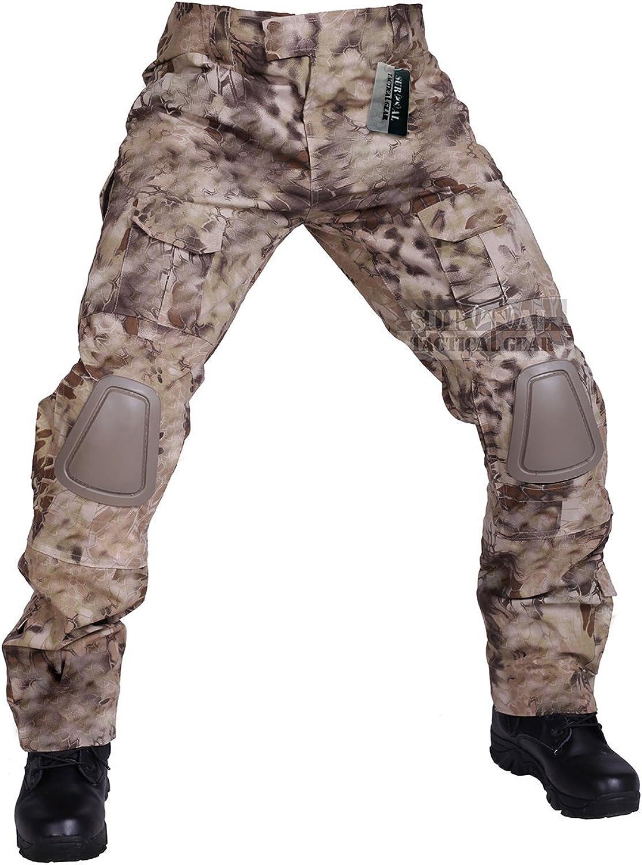 Amazon Com Zapt Pantalones Tacticos Con Rodilleras Airsoft Pantalones Anti Desgarro De Combate Para Acampar Senderismo Y Cazar Pantalones De Uniforme Militar Con 13 Tipos De Camuflaje Clothing