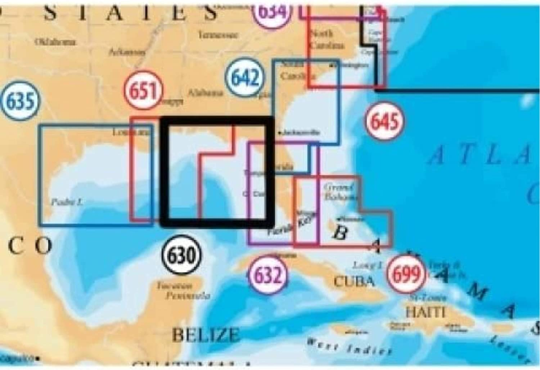 NAVIONICS NAV-MSD/630P+ / Platinum SD 630 East Gulf of Mexico