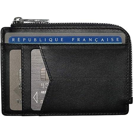 Nouveau Bi-Fold full soft forte Portefeuille Cuir Carte//Note//Pièce bouton//fermeture éclair Noir