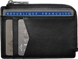 HUYAMI® Porte Carte de Crédit en Cuir Ultra Fin – Blocage et Sécurité Anti RFID – Porte-Monnaie intégré avec Zip – Ebook O...
