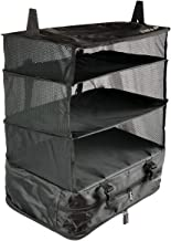 Stow-N-Go® Portable Luggage System - Large - Black, Hanging Shelves and Travel Organizer