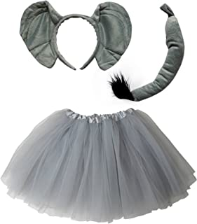 So Sydney Kids Teen Adult Plus 2-3 Pc Tutu Skirt, Ears, Tail Headband Costume Halloween Outfit