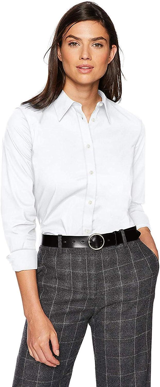 Chaps Women's Long Sleeven Non Iron Broadcloth Shirt