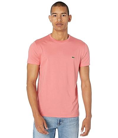 Lacoste Short Sleeve Pima Crew Neck T-Shirt Men