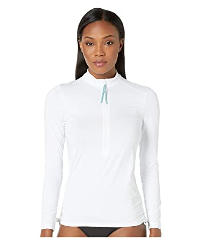 Carve Designs Cruz Rashguard (White/Water Shimmer Pull) Women
