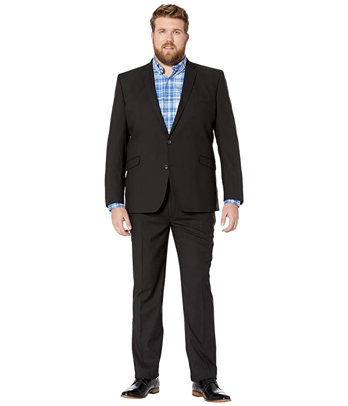 Kenneth Cole Reaction  Big Tall Techni-Cole Open Bottom Suits (Solid Black) Mens Suits Sets