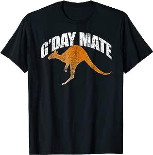 G'Day Mate Shirt Funny Kangaroo Shirt Down Under Australia