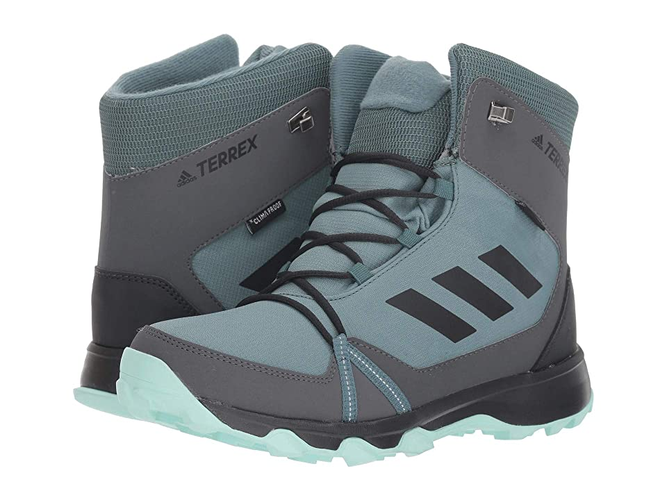 adidas Outdoor Kids Terrex Snow CP CW (Little Kid/Big Kid) (Clear Mint/Carbon/Hi-Res Aqua) Girl