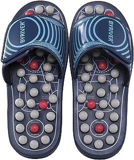 BYRIVER Outil de massage des pieds de réflexologie, Acupression Massage des pieds Chaussons Chaussures Sandales Tapis, Sou...