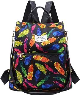 ZumZup Schoolbags Casual Daypacks Women's Backpack Handbags Satchel Junior High School Students Anti-Theft feather