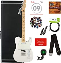 Fender Player Telecaster Bundle with Hardshell Case, Tuner, Strap, Instrument Cable, Strings, Picks, Capo, Fender Play Tri...