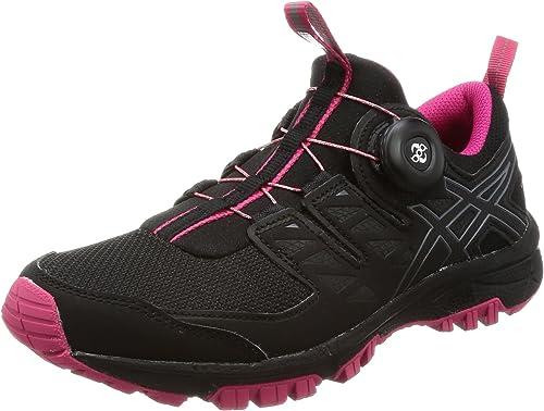 ASICS Chaussures de Course New Gel-Fujirado femmes Trail Chaussures de Sport Noir Carbon