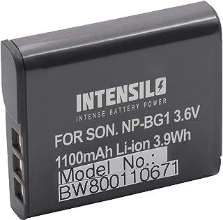 INTENSILO Li-Ion batería 1100mAh (3.6V) para cámara de video Sony Handycam HDR-GW55VE por NP-BG1 NP-FG1.
