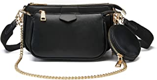 Small Crossbody Bags for Women Multipurpose Golden Zippy Handbags with Coin Purse including 3 Size Bag