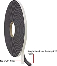 WOD Closed Cell Sponge Rubber Foam Tape, Weatherstrip Seal, Windows and Doors Adhesive, Sound Proof Insulation, Black (Available in Multiple Sizes): 1/4 mil Thick, 3/4 in. X 35 ft. (Pack of 1)