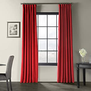 HPD Half Price Drapes VPCH-P Signature Blackout Velvet Curtain (1 Panel), 50 X 84, Moroccan Red