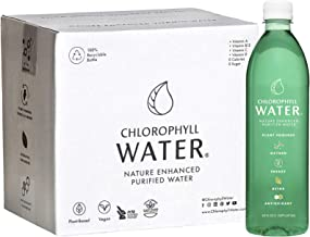 Chlorophyll Water (Case of 12): Plant Based Vitamin Water for Antioxidants, Detox, Immune Booster, Vegan Energy, Liquid Ch...