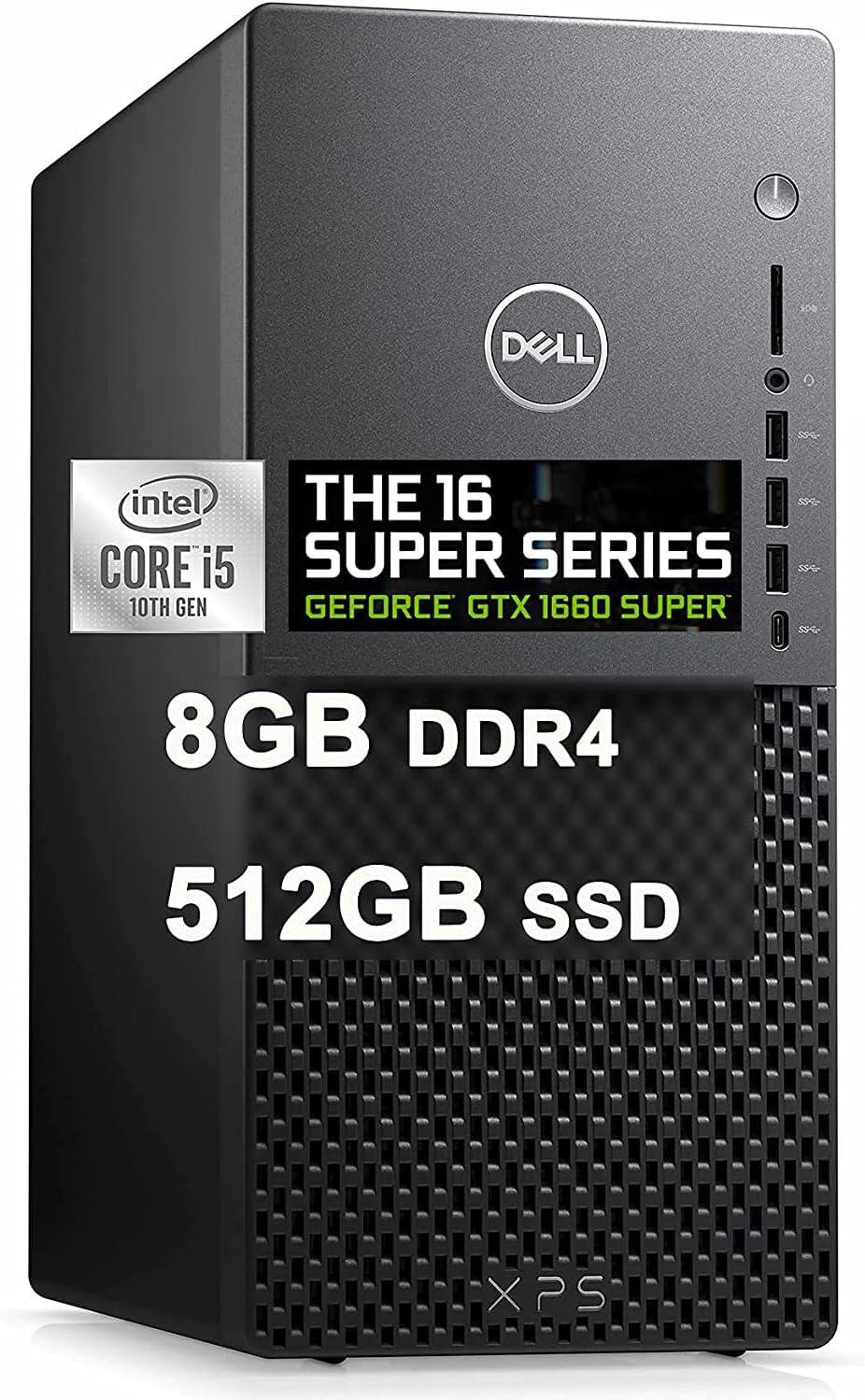 Dell Premium XPS 8940 Gaming Desktop Computer I 10th Gen Intel 6-Core i5-10400 Processor (Beats i7-8700T) I 32GB DDR4 512GB SSD I Geforce GTX 1660 Super 6GB I USB-C WiFi Win10