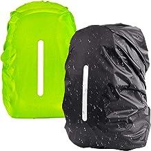 Regenüberzug Regenschutz Hülle für 30L-40L Rucksack Reflektorüberzug Grün