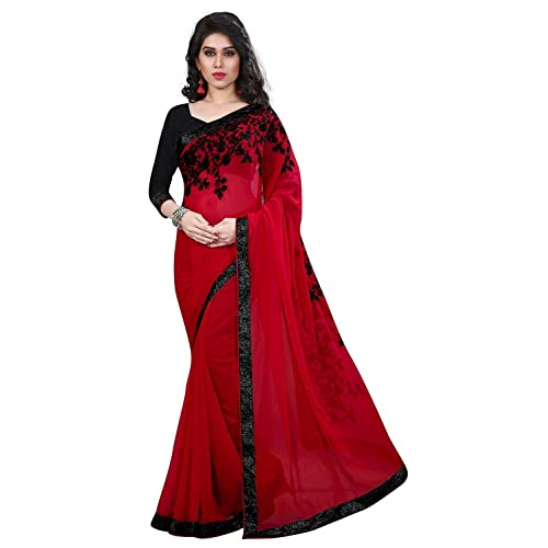 2dc6da5a59 Red and Black Sarees: Buy Red and Black Sarees Online at Best Prices ...