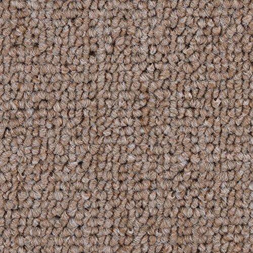 Teppichboden Auslegware | Schlinge gemustert | 400 und 500 cm Breite | dunkel-beige | Meterware, verschiedene Größen | Größe: 6 x 5m