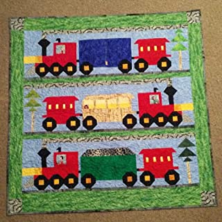 Handmade Night-Night Express Baby Quilt or Wall Hanging