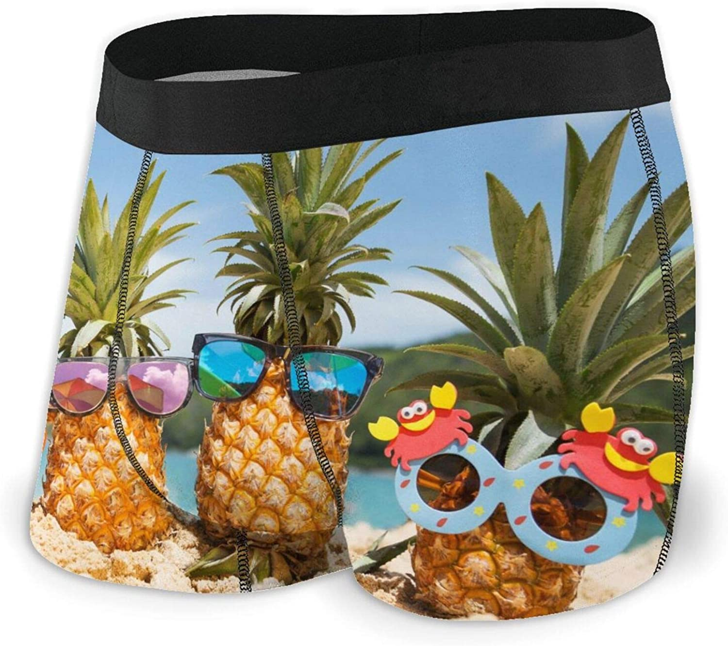 Pineapples Year-end gift in Stylish Direct sale of manufacturer Sunglasses Men's Breathable Boxer Briefs C