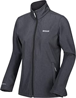 Regatta Women's Carby Water Repellent Wind Resistant Warm Backed Softshell Jacket Soft Shell, Seal Grey, 16