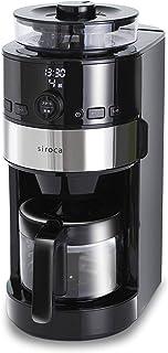 シロカ コーン式全自動コーヒーメーカー [ガラスサーバー/予約タイマー/自動計量] SC-C111