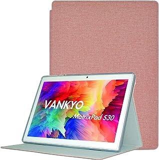 V ANKYO S30 ケース【LASTE】V ANKYO タブレットS30 ケース 角度調整 キズ防止 軽量 タブレット カバー 全面保護 スリムフィット ANKYO S30 専用 スマートカバー(カーキ)