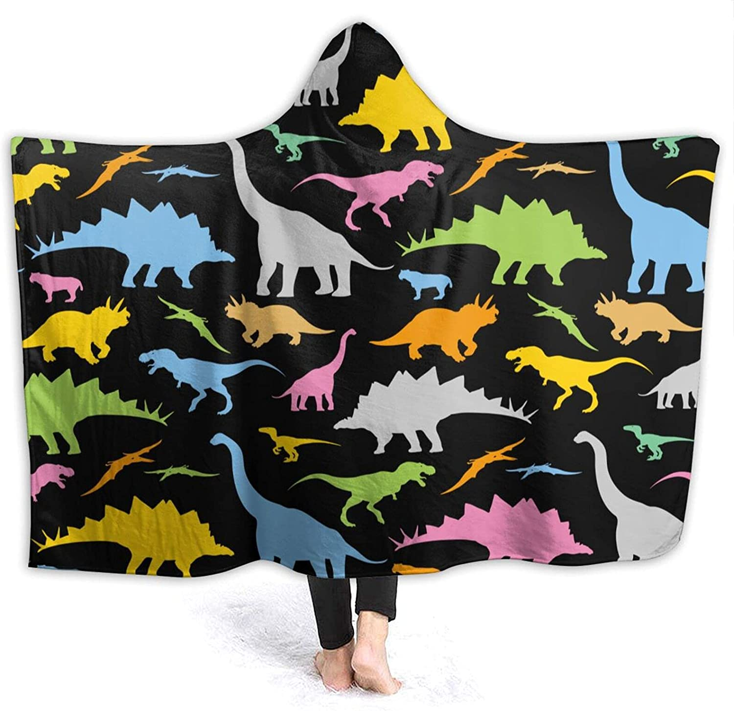 Cute Cartoon Albuquerque Mall Dinosaurs Wearable Blanket Shipping included Hooded Throw Robe Cloak