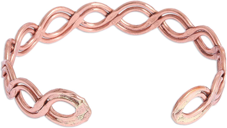 NOVICA Copper Cuff Bracelet, Brilliant Beauty'