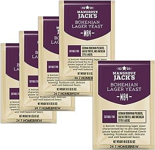 5x Mangrove Jack's Yeast M84 Bohemian Lager Craft Series Yeast 10g treats 23L