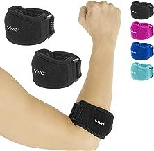 Vive Tennis Elbow Brace (Pair) - Rheumatoid Arthritis Strap for Bursitis, Golfers, Lateral & Medial Epicondylitis, Tendinitis - Padded Compression Arm Support Band - Adjustable Forearm Pain Relief
