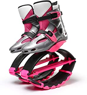 ZYSM Unisexo Zapatos de elástico Salto fácilmente Espacio Gorila Salto Zapatos zancos Rebote Zapatos Rojo, Azul, Verde (Pe...