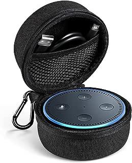 UGREEN Echo Dot Case Bag Protective Traveling Shock Proof EVA Cover Zipper Portable Bag Box for Echo Speaker (Black)