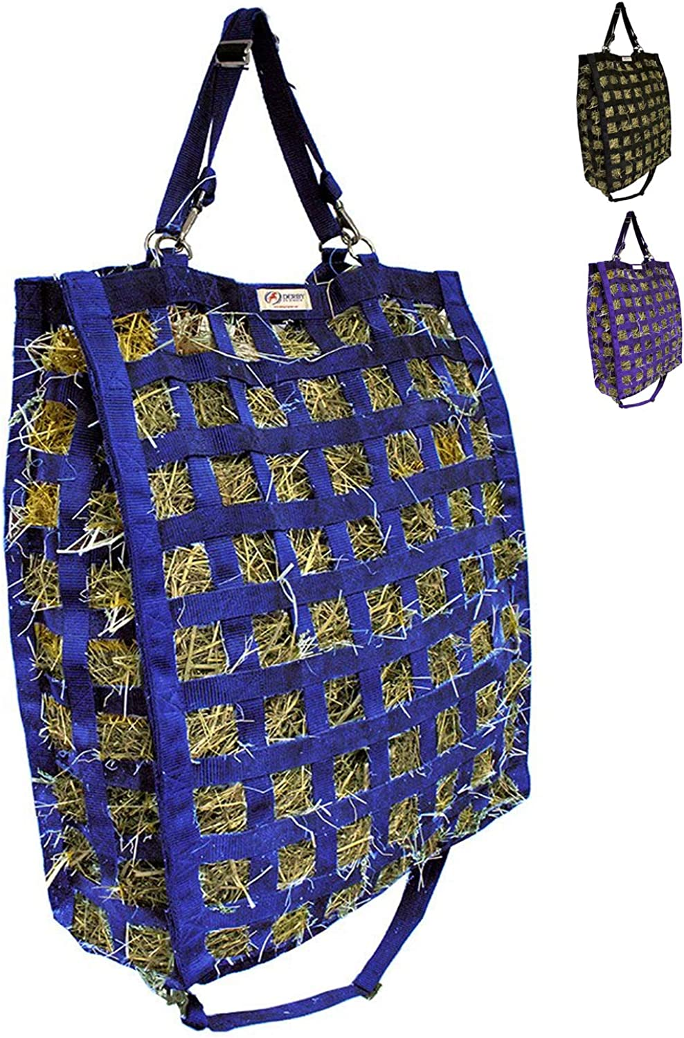 Derby Originals Super Tough 4 Sided Slow Feed Hay Bag Patented with Warranty