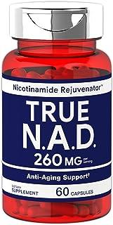 True NAD 260 mg 60 Capsules | Nicotinamide Rejuvenator Anti Aging Support | Non-GMO, Gluten Free Supplement