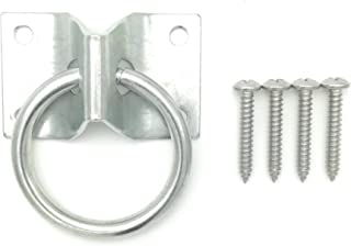 Will's Family Store 2 inch Wall Mount Tie Ring Through Plate Zinc Plated