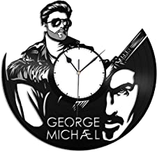 VinylShopUS - George Michael Vinyl Wall Clock Music Record Music Bands and Musicians Themed | Unique Gift for Music Lovers Men Women| Home Decoration
